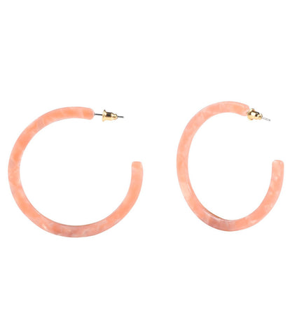Rose Acrylic Thin Hoop Wholesale Earrings