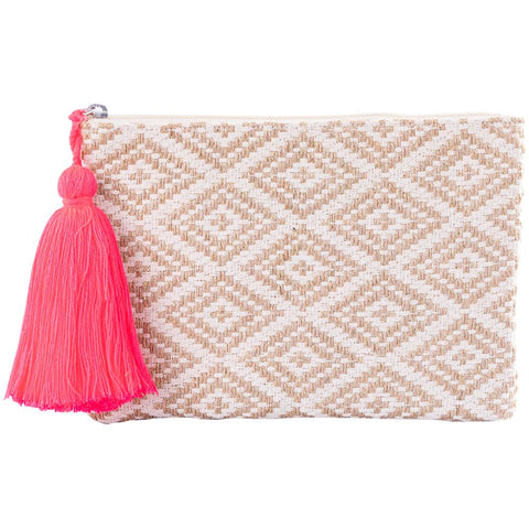 Katydid Wholesale Pocketbook/Clutch Purse - Gold/Tan Diamond