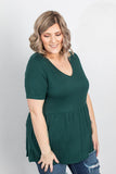 Sarah Ruffle Top - Evergreen