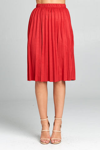 Cinched Midi Length Skirt