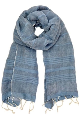 Linen Stripe Turkish Scarf