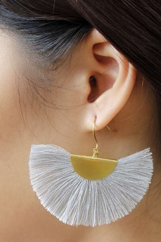 fair trade fan earrings