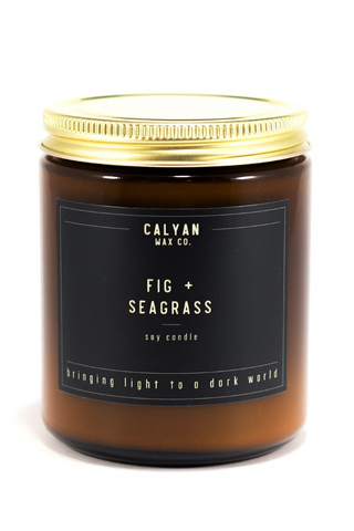 fig and seagrass Calyan Wax Co. candle