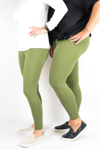 Comfort Legging in Olive Green - L&M Company
