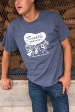 Navy Heather Franklin Barbecue T-shirt
