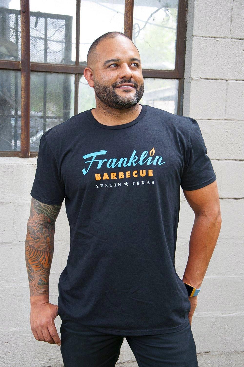 Black Franklin Barbecue T-Shirt
