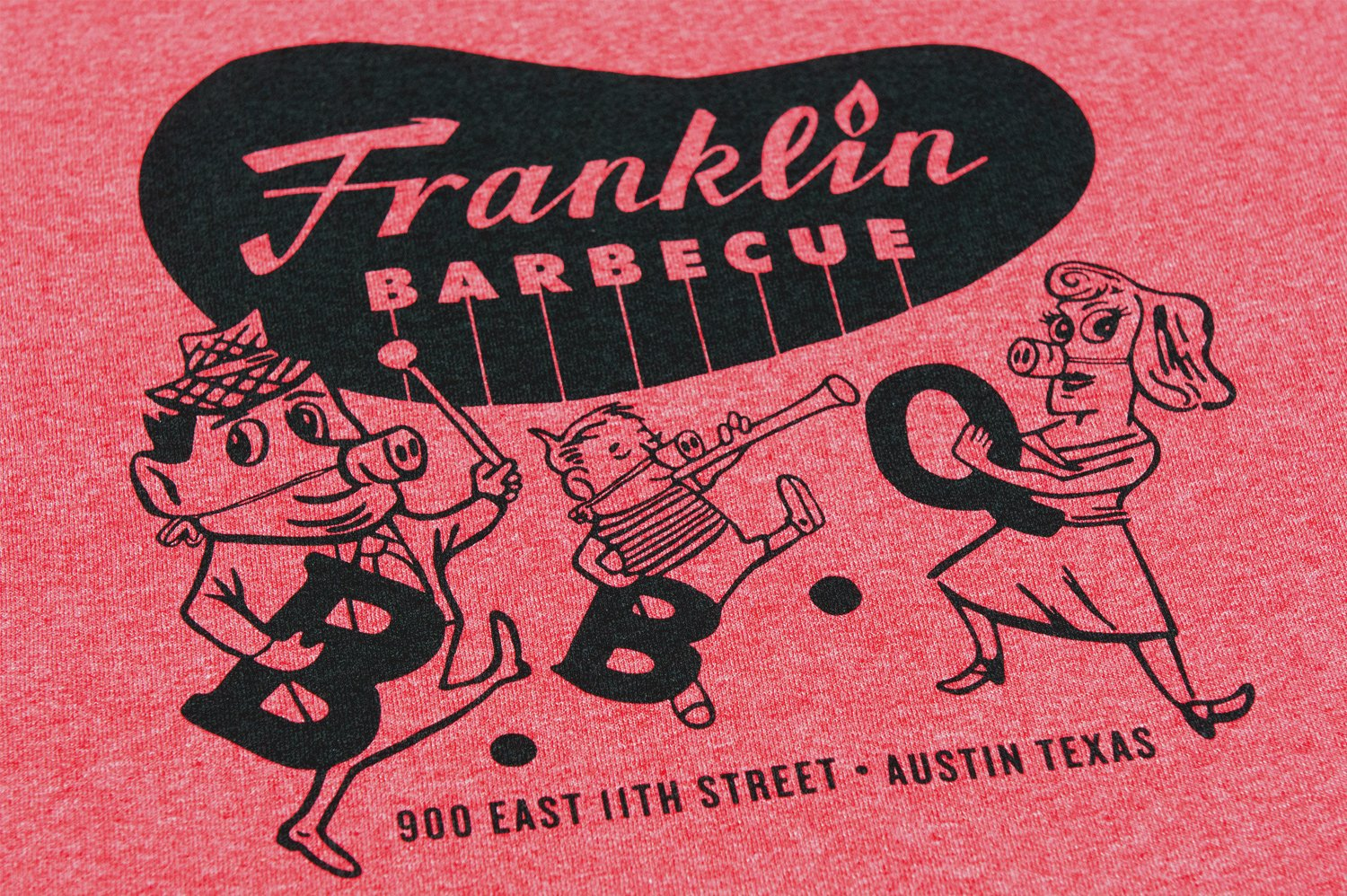 Heather Red Franklin Barbecue T-Shirt