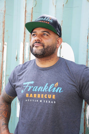 Heather Grey Franklin Barbecue T-shirt