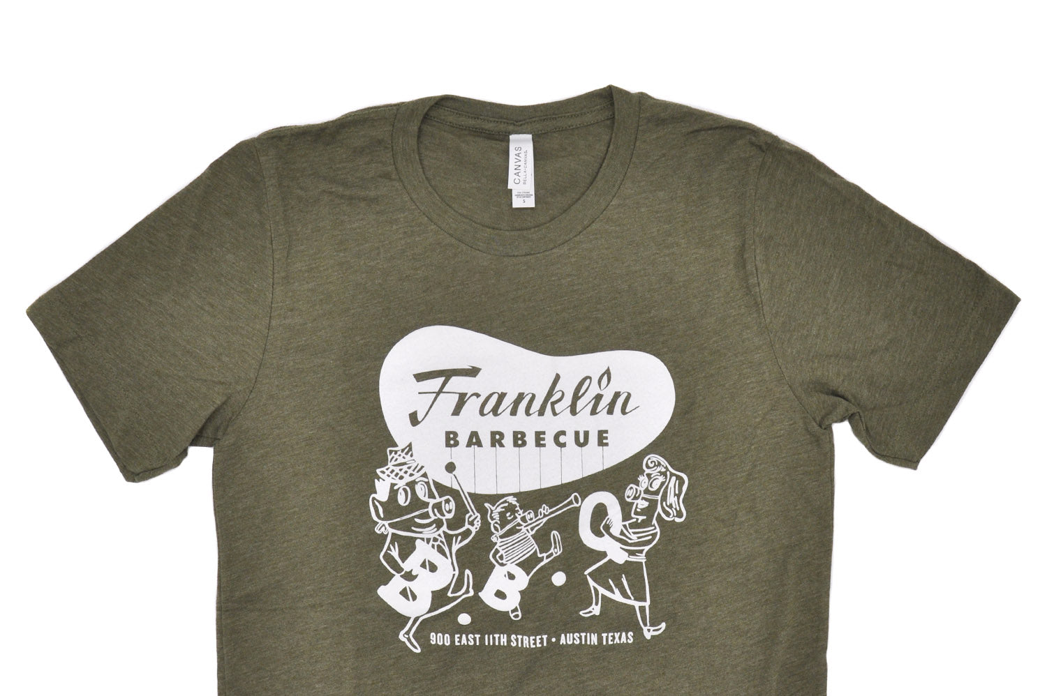 Olive Heather Franklin Barbecue T-shirt
