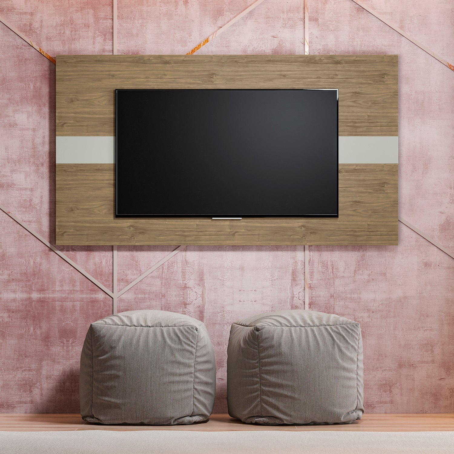 Panel de TV Franz Natural, Beige 160X90X3