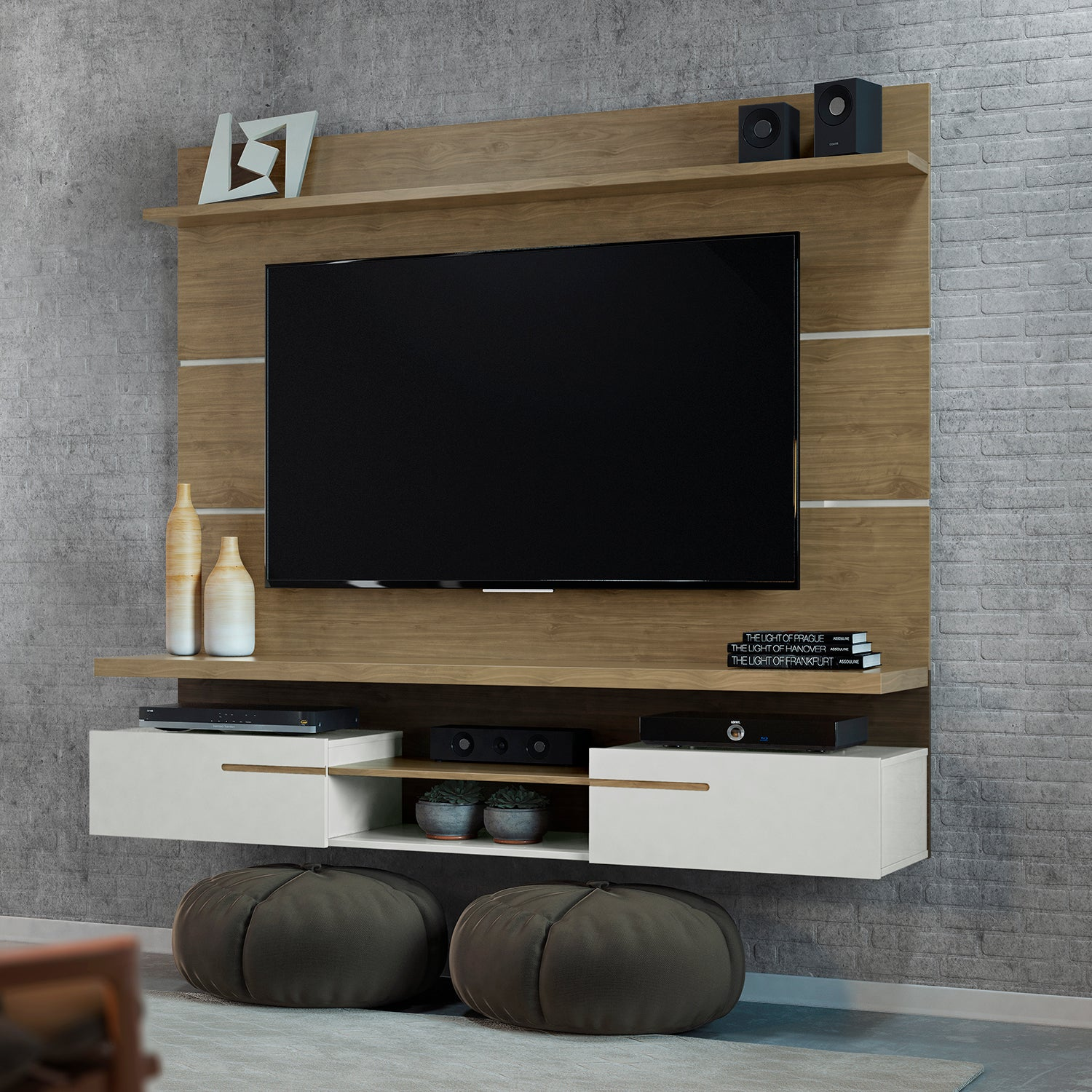 Panel de TV Emporium Natural, Beige 181X157X38