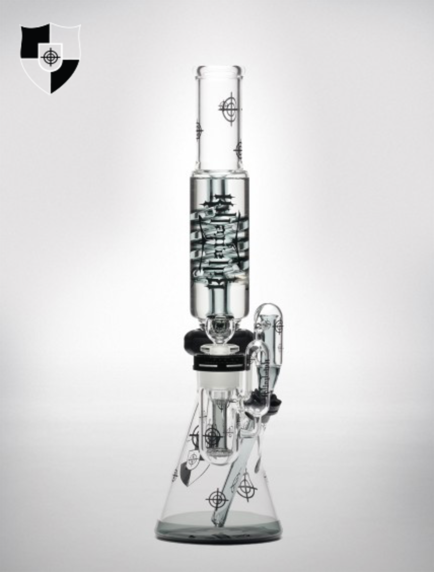 Illadelph Black Scope Series Water Pipe (Coil)