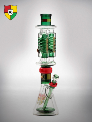 Illadelph Signature Series Water Pipe (Triple Coil w/ Pyramid Percolator)