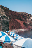 Red Beach, Santorini Umbrellas • Greece