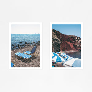 Santorini Red Beach Pair