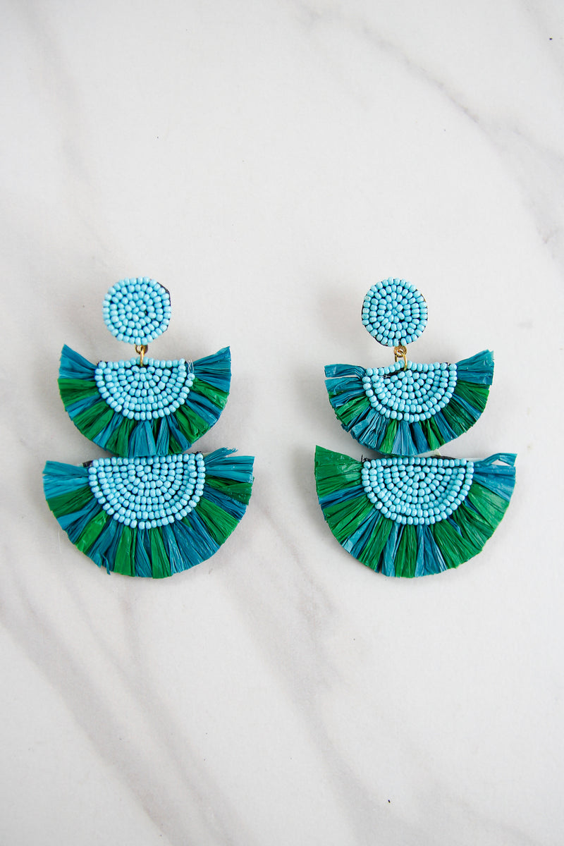 The Aubrey Earrings - Green