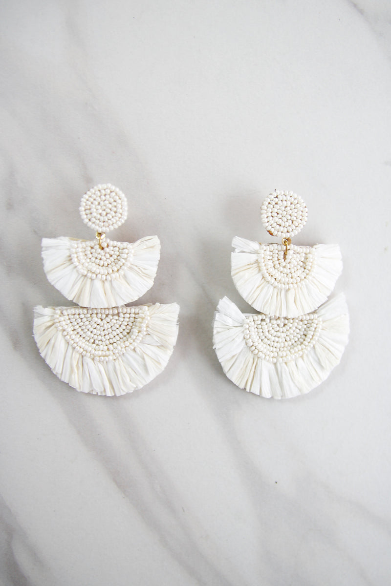 The Aubrey Earrings - White