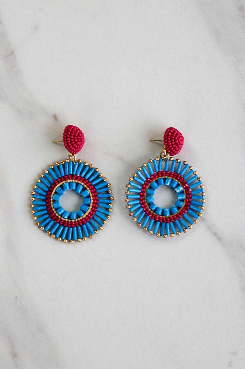 The Becka Earrings - Blue