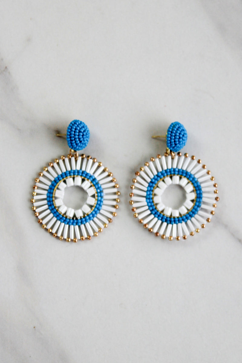 The Becka Earrings - White