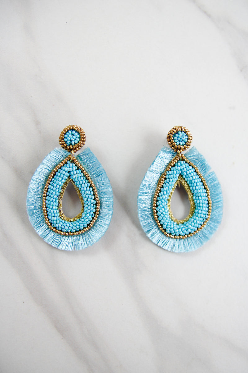 The Bella Earrings - Blue