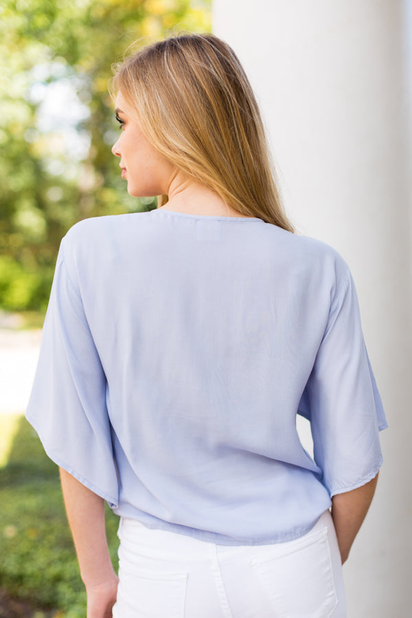 The Blair Top- Blue