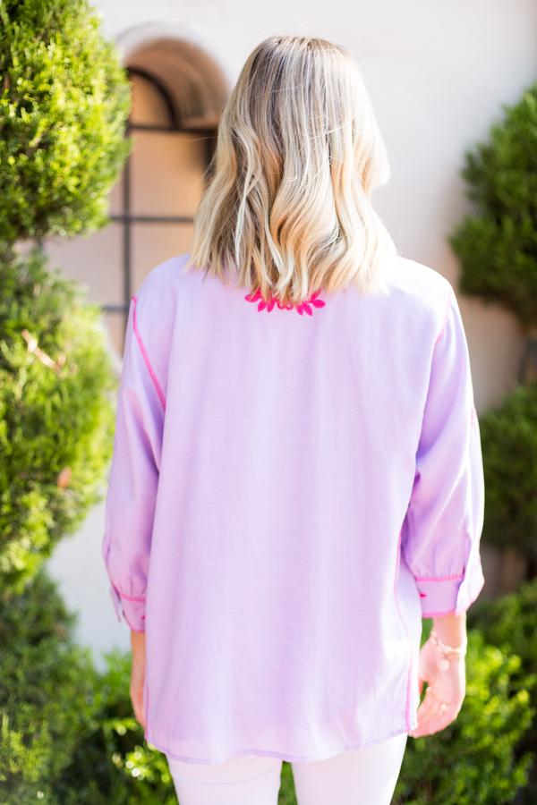 The Kennedy Top - Lilac