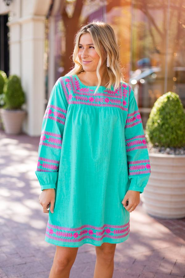 The Katie Dress - Teal