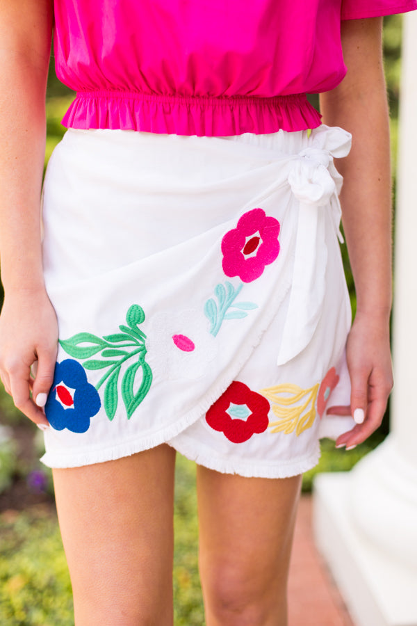 The Marta Skirt- White