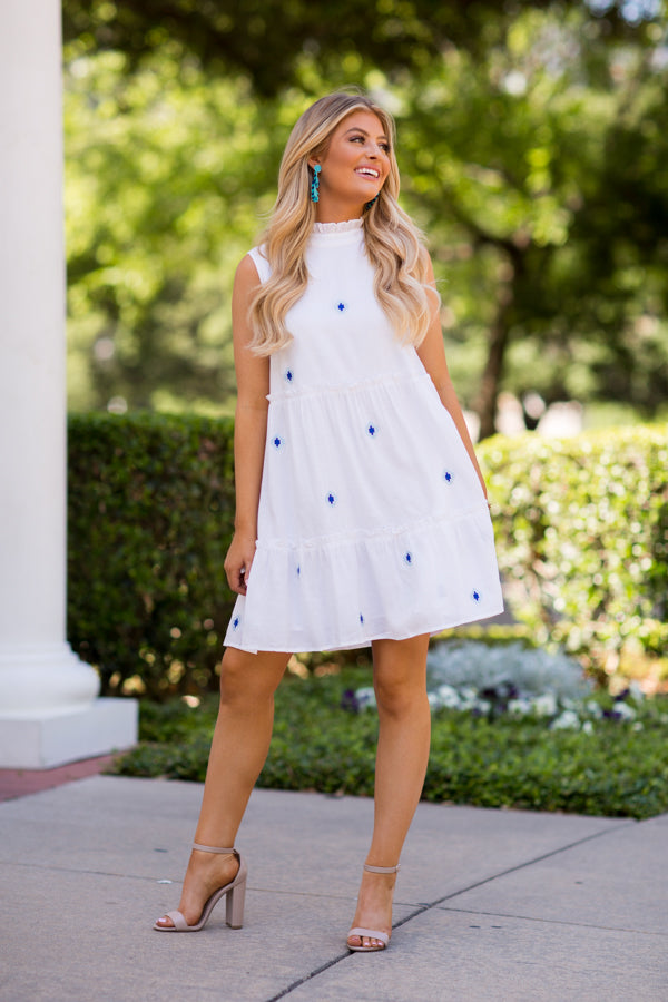 The Evelyn Dress - White