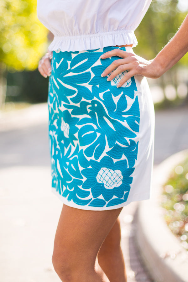 The Marina Skirt- Turquoise