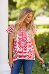 The Ava Top - Red