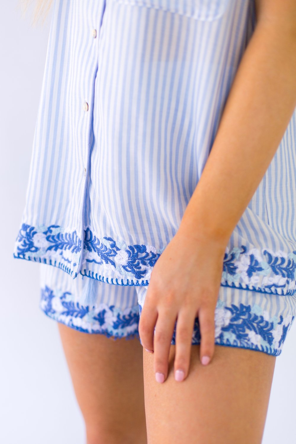 The Micaela Shorts - Blue