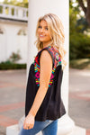 The Mckenna Sleeveless Top - Black