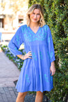 The Madeline Dress- Blue