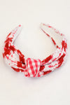Maddie Headband- Red Gingham