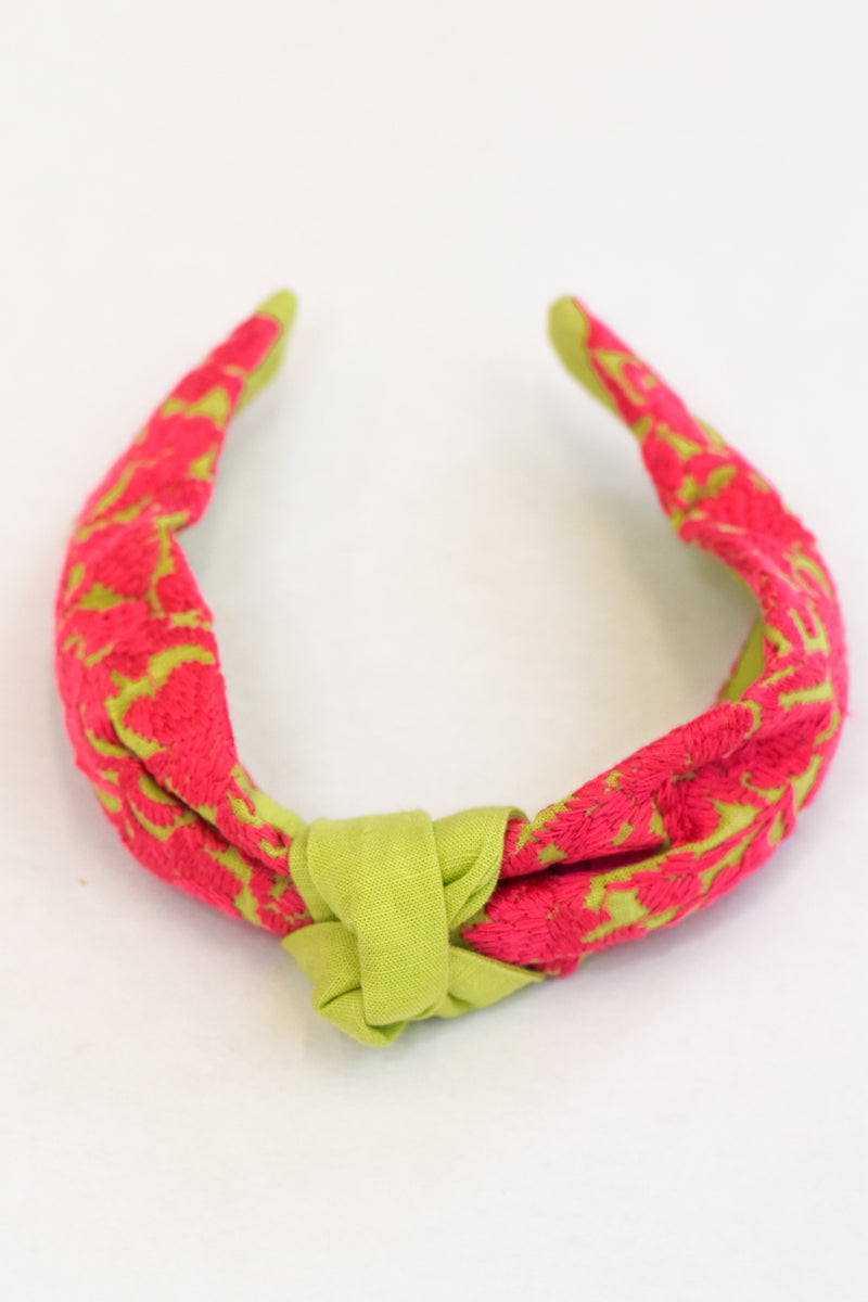 Brighton Headband- Lime