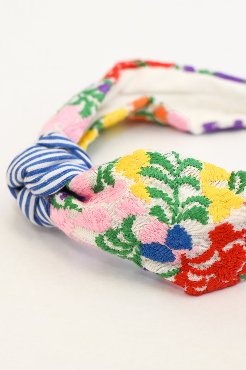 Ana Maria Headband- Blue Stripe