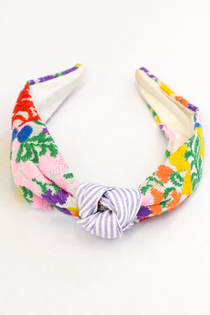 Camilla Headband- Purple Stripe