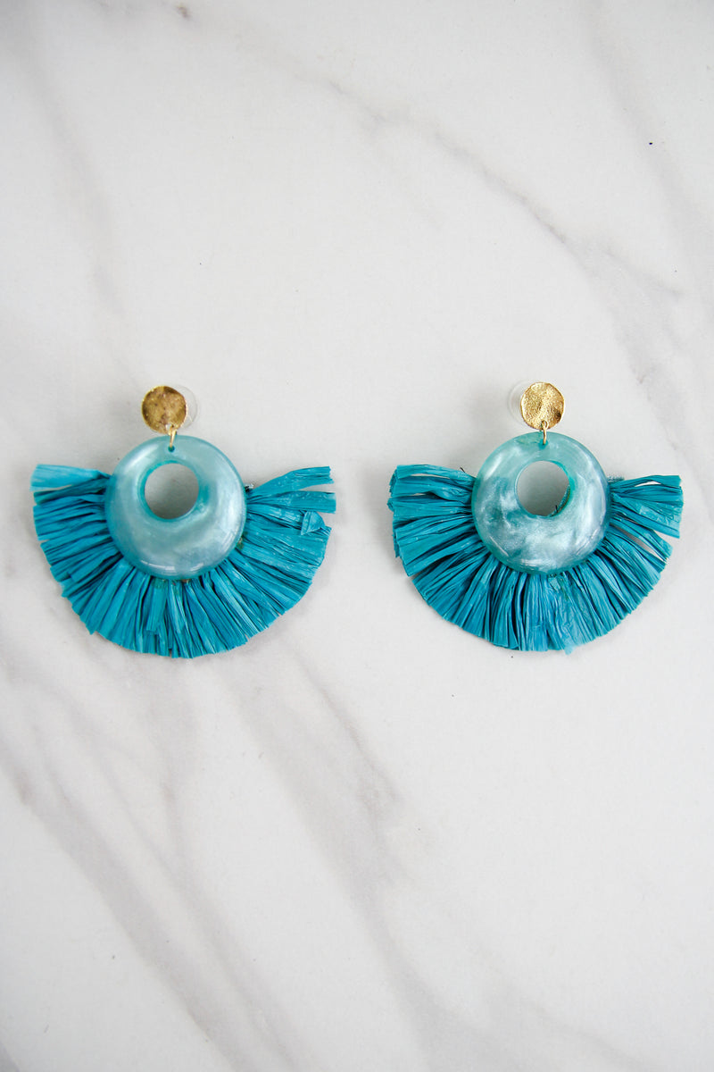 The Kayley Earrings - Turquoise