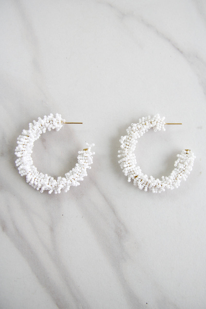 The Kimberly Earrings - White
