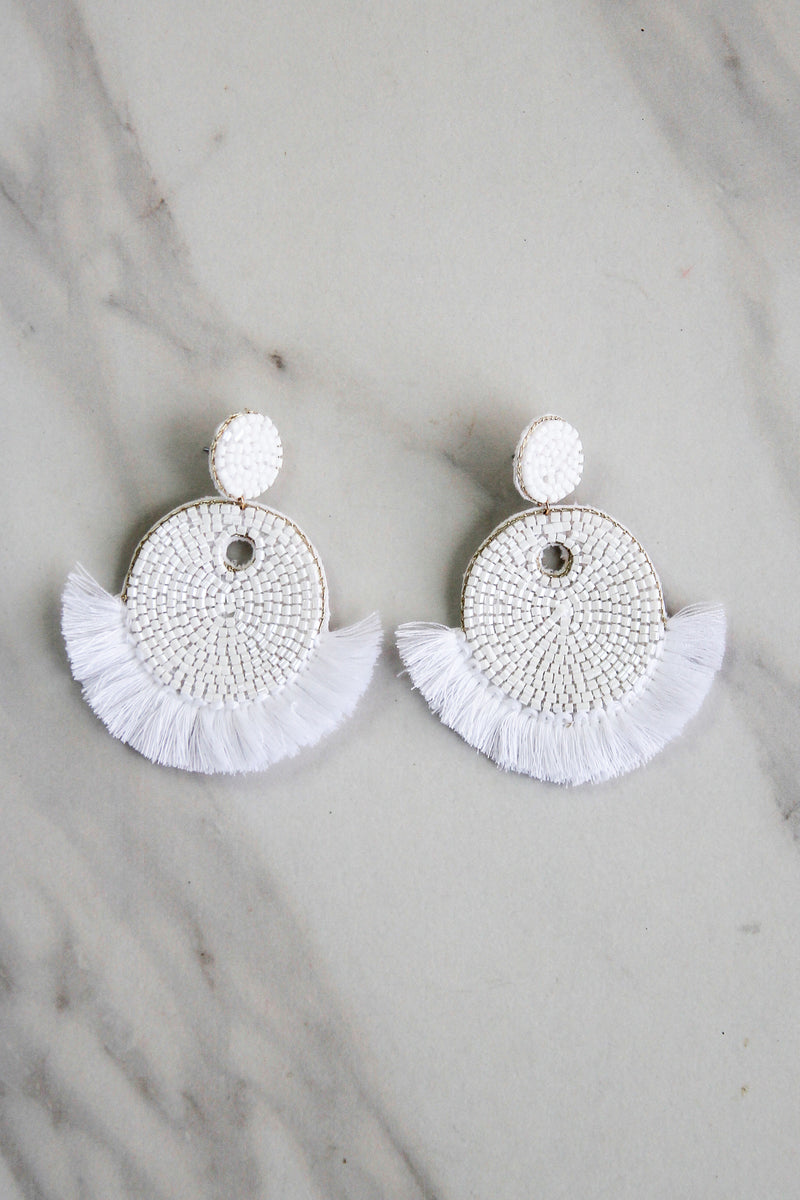 The Kylie Earrings - White