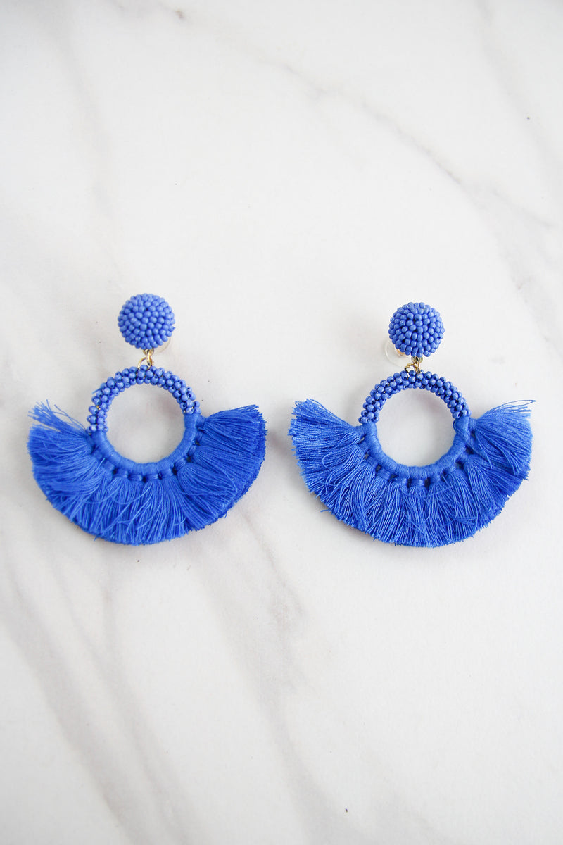 The Naomi Earrings - Blue