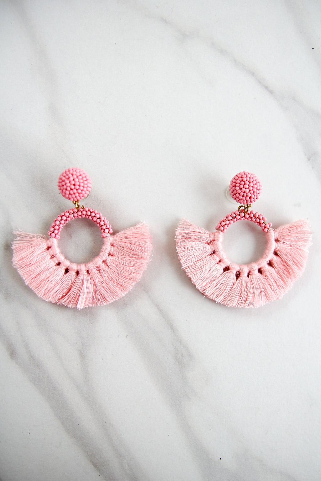 The Naomi Earrings - Pink