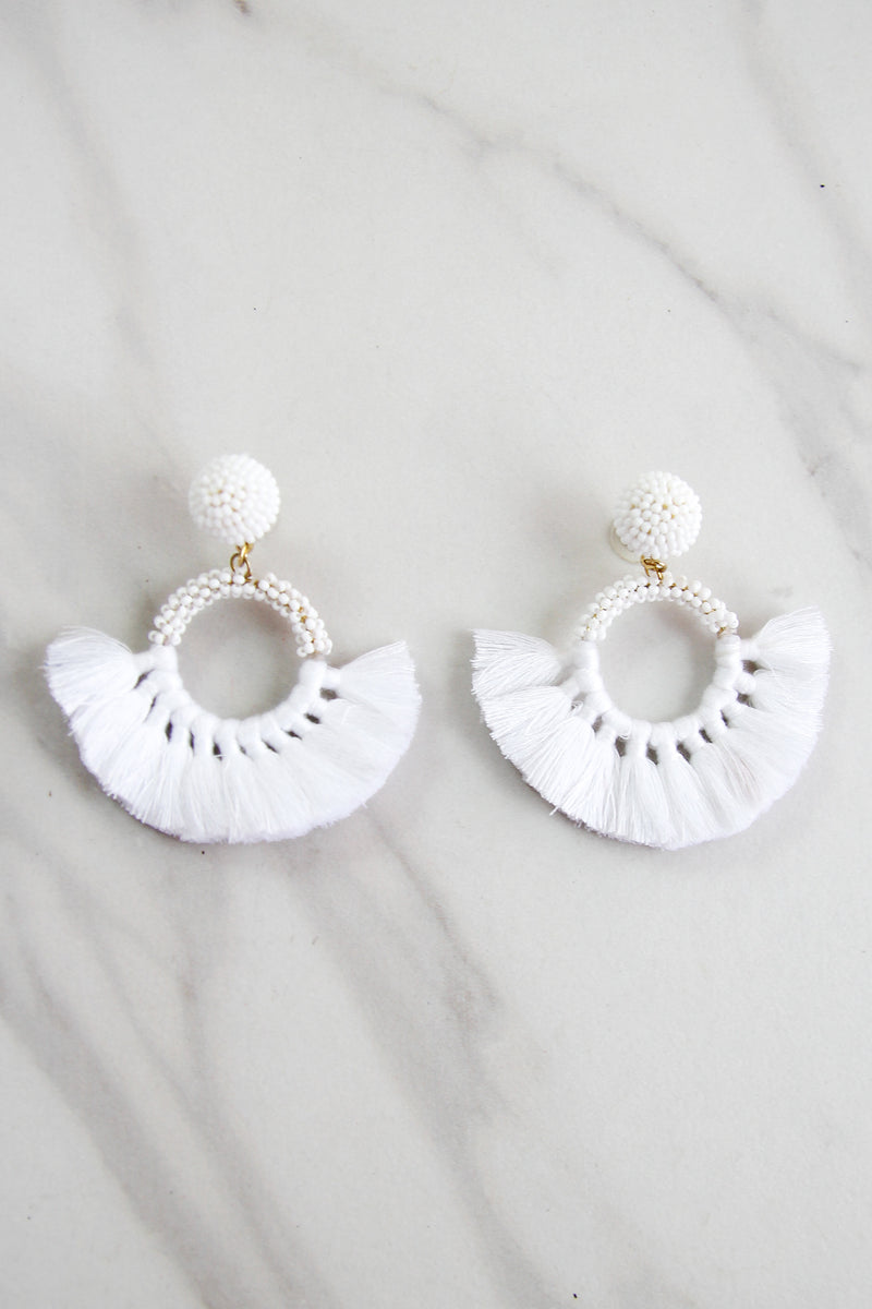 The Naomi Earrings - White