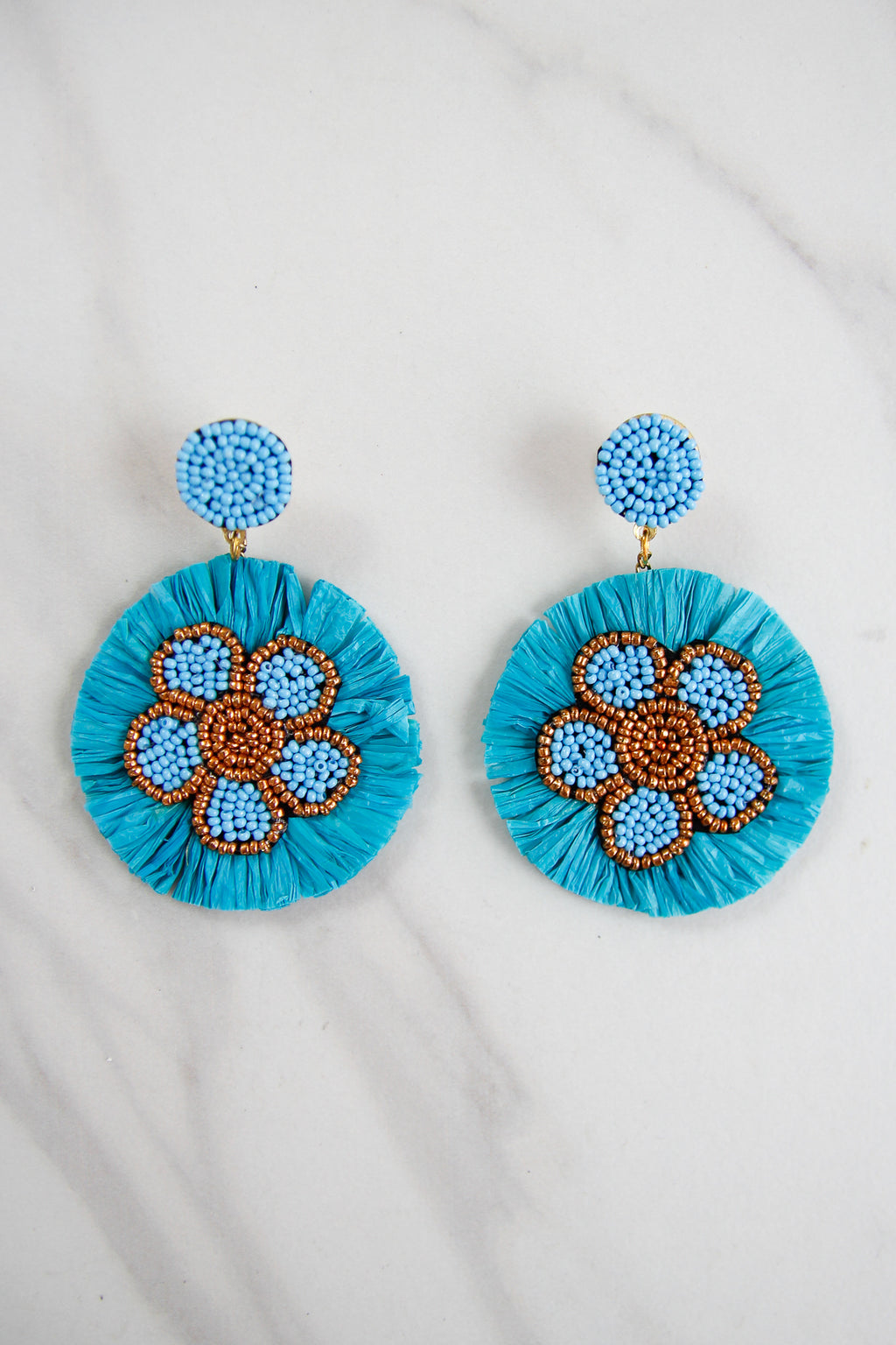 The Nora Earrings - Blue