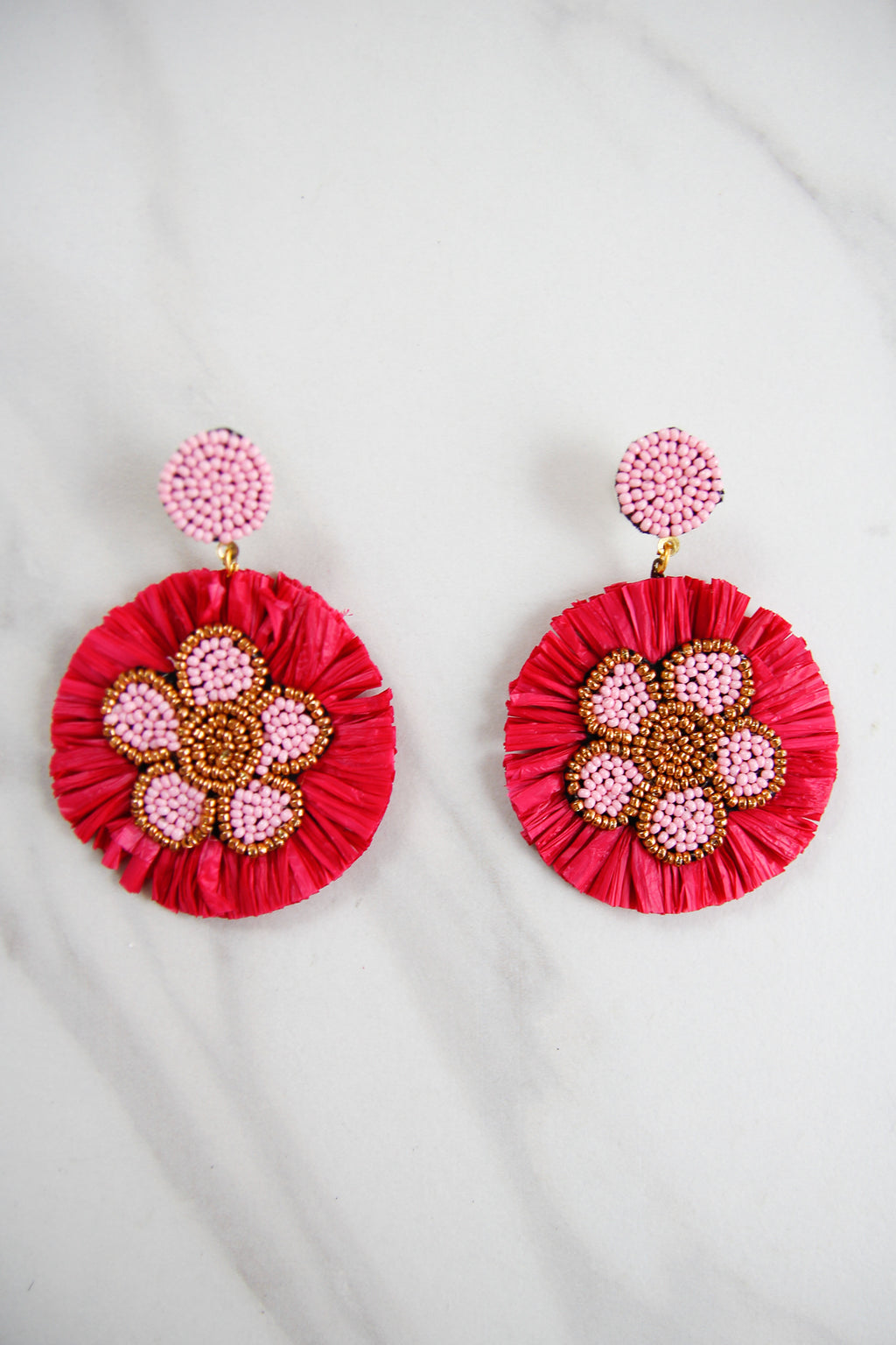 The Nora Earrings - Pink