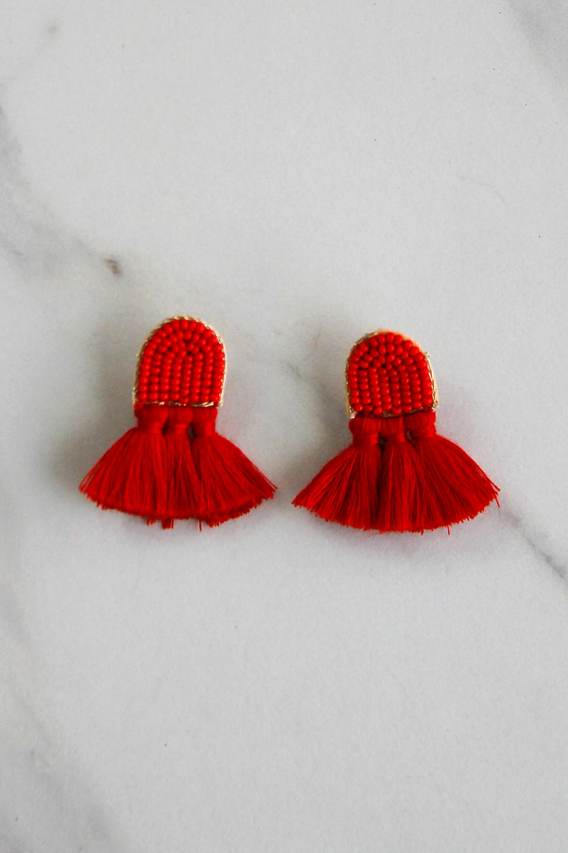 The Quinn Earrings - Red