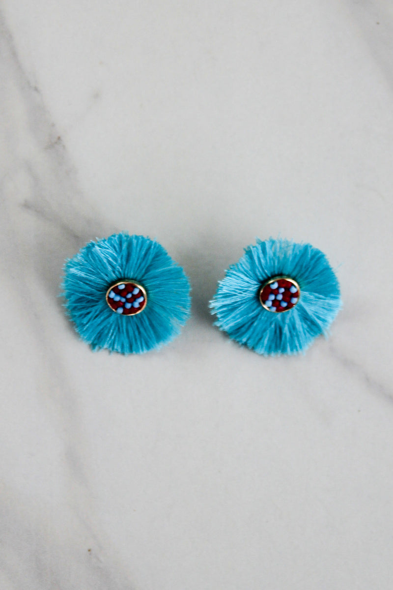 The Tara Earrings - Blue