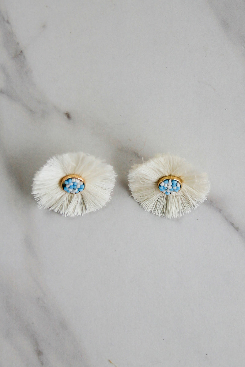 The Tara Earrings - White