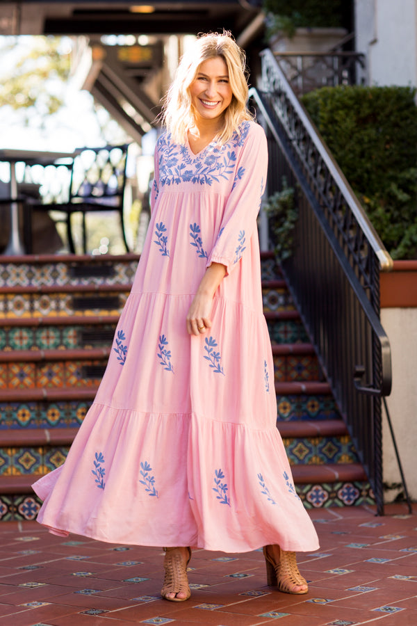 The Madeline Maxi Dress - Pink